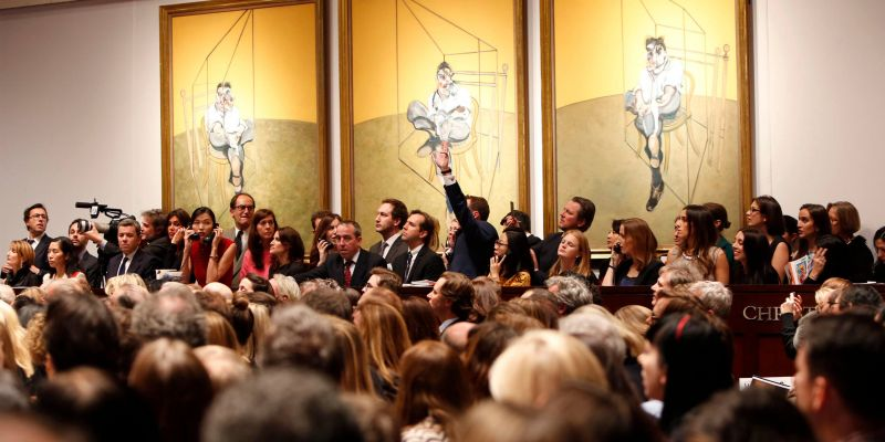 The Salesroom At Christie's During The Auction Of Bacon's